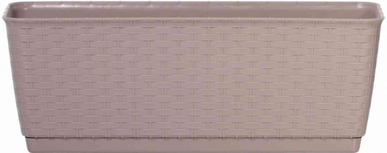 Truhlík ratanový svetlo hnedý 50x17x17 cm - obrázok