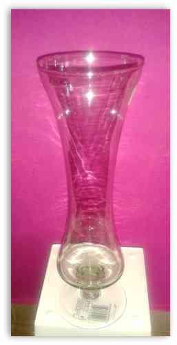 Váza sklenená vysoká 28 cm  - obrázok
