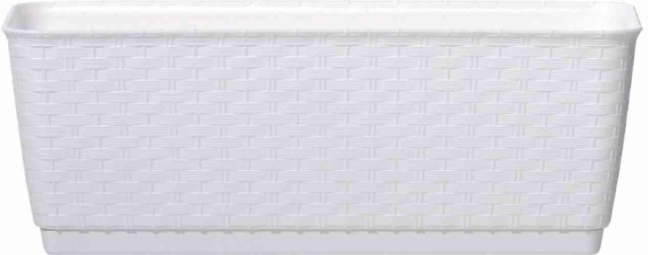 Truhlík ratanový biely 50x17x17 cm - obrázok